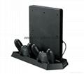 廠家直銷PS4SLIM手柄雙座充ps4slim無線手柄充電器TP4002S 7