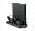 厂家直销PS4SLIM手柄双座充ps4slim无线手柄充电器TP4002S 12
