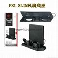 廠家直銷PS4SLIM手柄雙座充ps4slim無線手柄充電器TP4002S 13