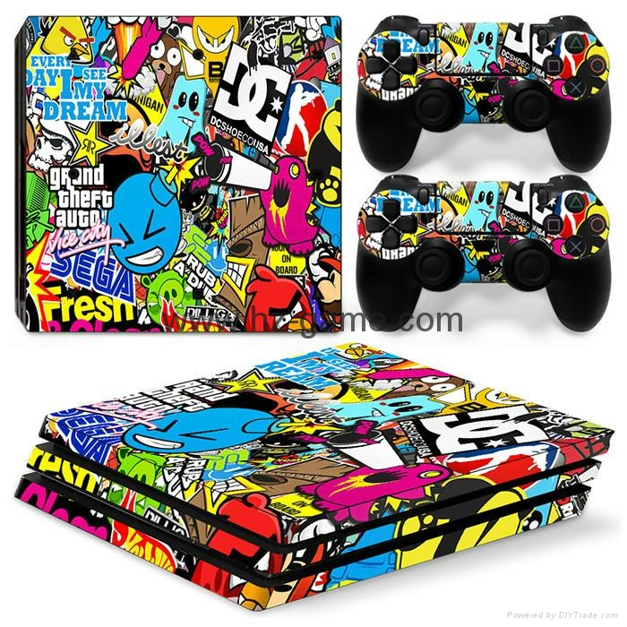 wholesale PS4pro sticker PS4Pro Skin Sticker Decal For SonyPS4 PlayStation4
