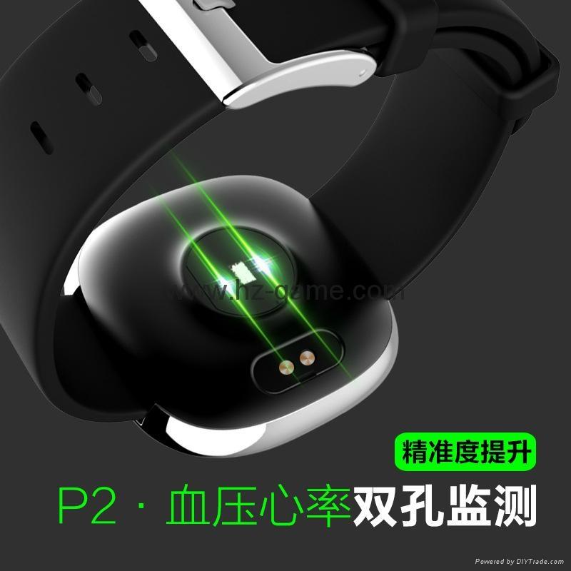 2017 new P2 heart rate blood pressure exercise step waterproof smart bracelet 8
