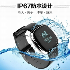 2017 new P2 heart rate blood pressure exercise step waterproof smart bracelet