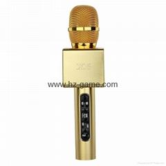 新款 手机K歌麦克风K歌话筒 可插TF卡 蓝牙无线掌上K歌宝