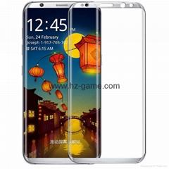三星S8鋼化膜3D曲面edge全屏覆蓋S8Plus手機玻璃保護貼膜批發