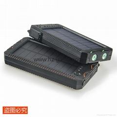新款15000毫安聚合物手机移动电源充电宝点烟太阳能移动电源