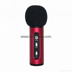 新款車載FM麥克風手機唱吧K歌神器電腦網絡主播話筒電容全民K歌