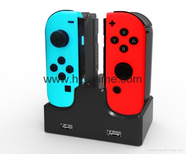 switch joy-con遊戲手柄座充充電器遊戲配件4個手柄充電任天堂 1