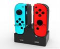 switch joy-con遊戲手柄座充充電器遊戲配件4個手柄充電任天堂