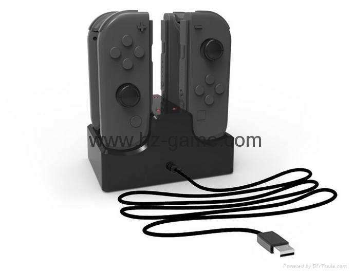 switch joy-con遊戲手柄座充充電器遊戲配件4個手柄充電任天堂 2