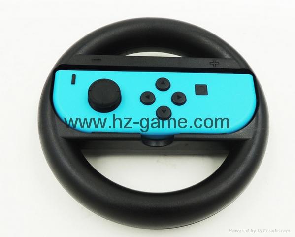 SWITCHJoy-Con任天堂手柄方向盤 支架 遊戲配件左右適用 12