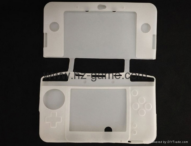 NEW 3DS silicone sleeve case Soft Silicone Skin Case Cover for Nintend 2DS case 3