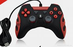 厂家直销2017新款私模PCPS3有线USB双震动游戏手柄支持XINPUT