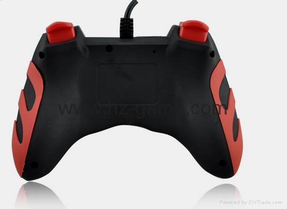 廠家直銷2017新款私模PCPS3有線USB雙震動遊戲手柄支持XINPUT 9