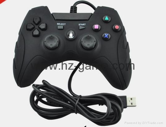 廠家直銷2017新款私模PCPS3有線USB雙震動遊戲手柄支持XINPUT 2