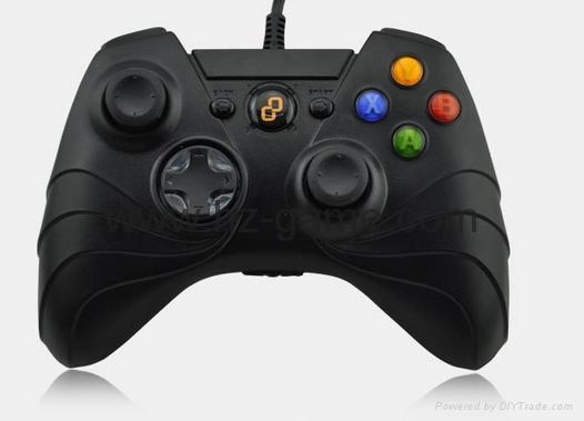 廠家直銷2017新款私模PCPS3有線USB雙震動遊戲手柄支持XINPUT 10