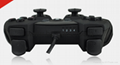 廠家直銷2017新款私模PCPS3有線USB雙震動遊戲手柄支持XINPUT 12