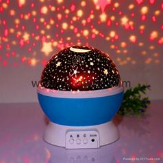 廠家直銷七彩旋轉星空燈旋轉夢幻浪漫滿天星炫彩星空投影燈