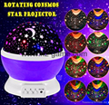 Night Light Moon Star Projector 360Degree Rotation 4LED 9Color Changing USB 1