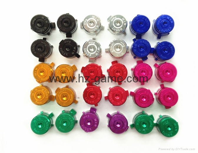 Metal Aluminum ABXY Action Buttons For PS4 for ps3 Bullet Buttons