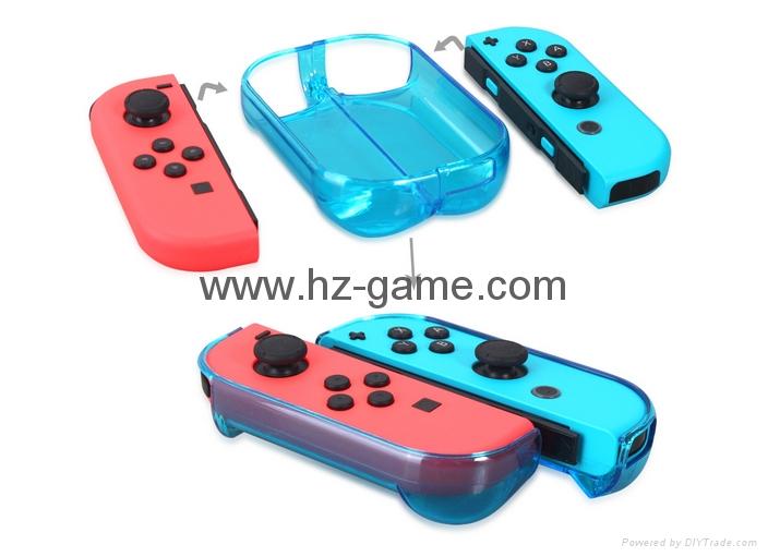 新品Nintendo switch遊戲機手柄水晶盒 switch手柄水晶殼