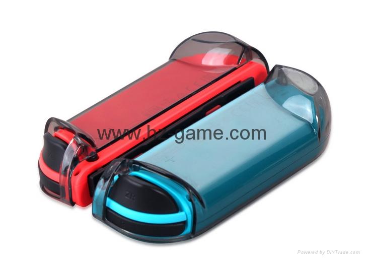 新品Nintendo switch遊戲機手柄水晶盒 switch手柄水晶殼 9