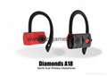 2017 new TWS wireless Bluetooth headset diamond A18 sports type hanging ear type