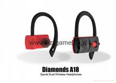 新款TWS無線藍牙耳機 鑽石A18 運動型挂耳式雙邊優質耳機