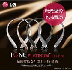 新款頸挂式藍牙耳機 HBS-1100 CSR4.1超清音質廠家直銷