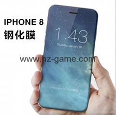 iPhone8鋼化玻璃膜 4D曲面鋼化膜 i8手機保護膜 冷雕3D曲面全屏鋼化膜 批發