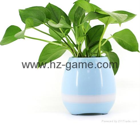New Bluetooth speakersLED Night Light Music Flowerpot Touch Plant Piano 14