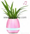 New Bluetooth speakersLED Night Light Music Flowerpot Touch Plant Piano 4