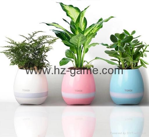 新品藍牙音箱智能音樂花盆感應創意禮品室內綠色盆栽工廠直銷 15