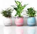 New Bluetooth speakersLED Night Light Music Flowerpot Touch Plant Piano 15