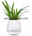 New Bluetooth speakersLED Night Light Music Flowerpot Touch Plant Piano 16