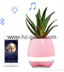 New Bluetooth speakersLED Night Light Music Flowerpot Touch Plant Piano