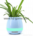 New Bluetooth speakersLED Night Light Music Flowerpot Touch Plant Piano 17