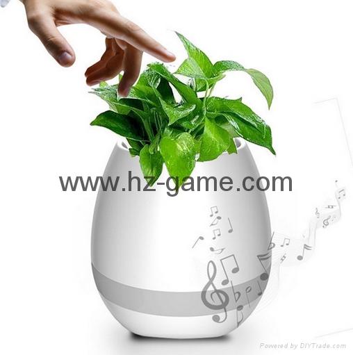 New Bluetooth speakersLED Night Light Music Flowerpot Touch Plant Piano 18