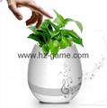 新品藍牙音箱智能音樂花盆感應創意禮品室內綠色盆栽工廠直銷 18