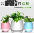 New Bluetooth speakersLED Night Light Music Flowerpot Touch Plant Piano 3