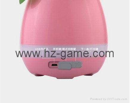 New Bluetooth speakersLED Night Light Music Flowerpot Touch Plant Piano 8