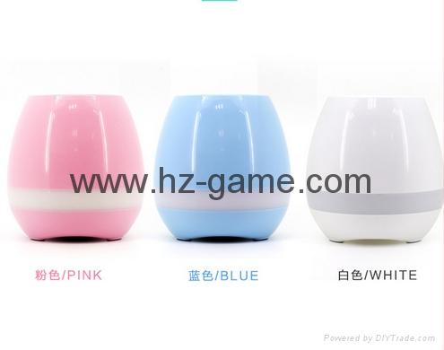 New Bluetooth speakersLED Night Light Music Flowerpot Touch Plant Piano 10