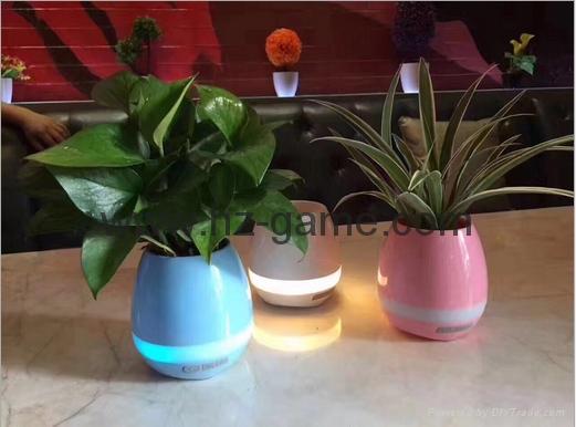 New Bluetooth speakersLED Night Light Music Flowerpot Touch Plant Piano 20