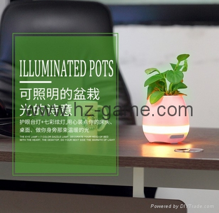 New Bluetooth speakers intelligent music pots inductive creative gifts 13