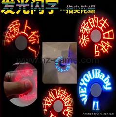 新款 智能 APP 指尖陀螺 圖片 連接手機 中文 陀螺 LED 指尖陀螺