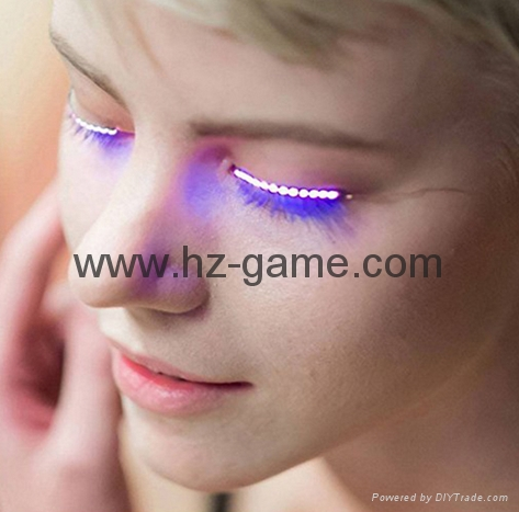 Trendy False Eyelashes Voice Control LED Flashing Eyelashes music 1