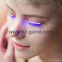 Trendy False Eyelashes Voice Control LED Flashing Eyelashes music