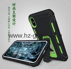 新款 蘋果iphone 8手機殼 炫影款雙色拼接手機保護殼 現貨批發