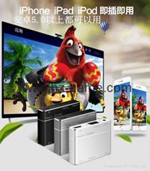 新款同屏器 HDMIVGA双输出支持IOS安卓windowns带音频 推送宝