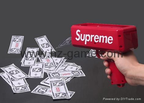 熱銷款鈔票射錢槍 Supreme Money Gun吐錢玩具手槍噴錢槍