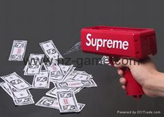 热销款钞票射钱枪 Supreme Money Gun吐钱玩具手枪喷钱枪